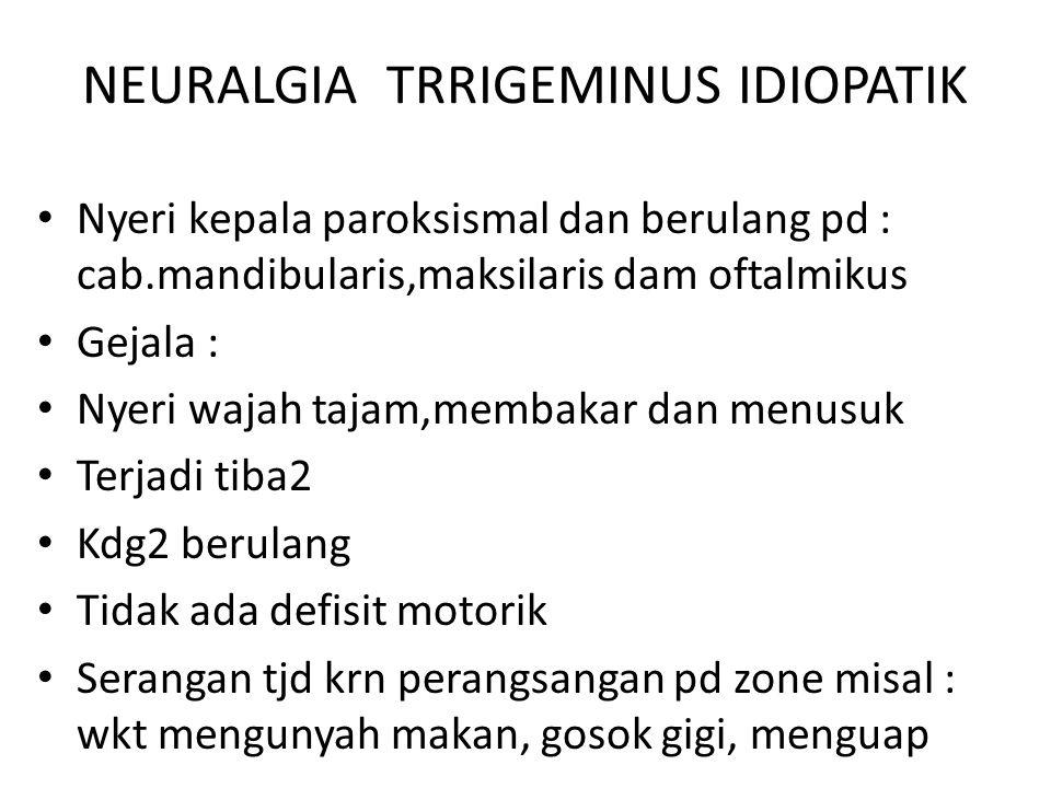 NEURALGIA TRRIGEMINUS IDIOPATIK