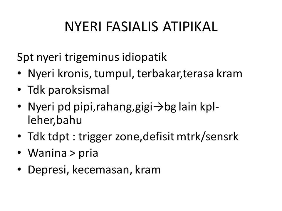 NYERI FASIALIS ATIPIKAL