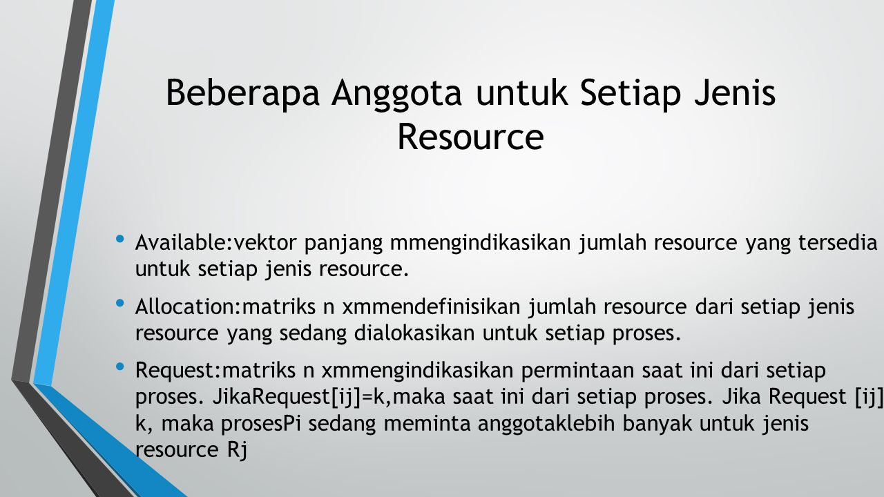 Beberapa Anggota untuk Setiap Jenis Resource