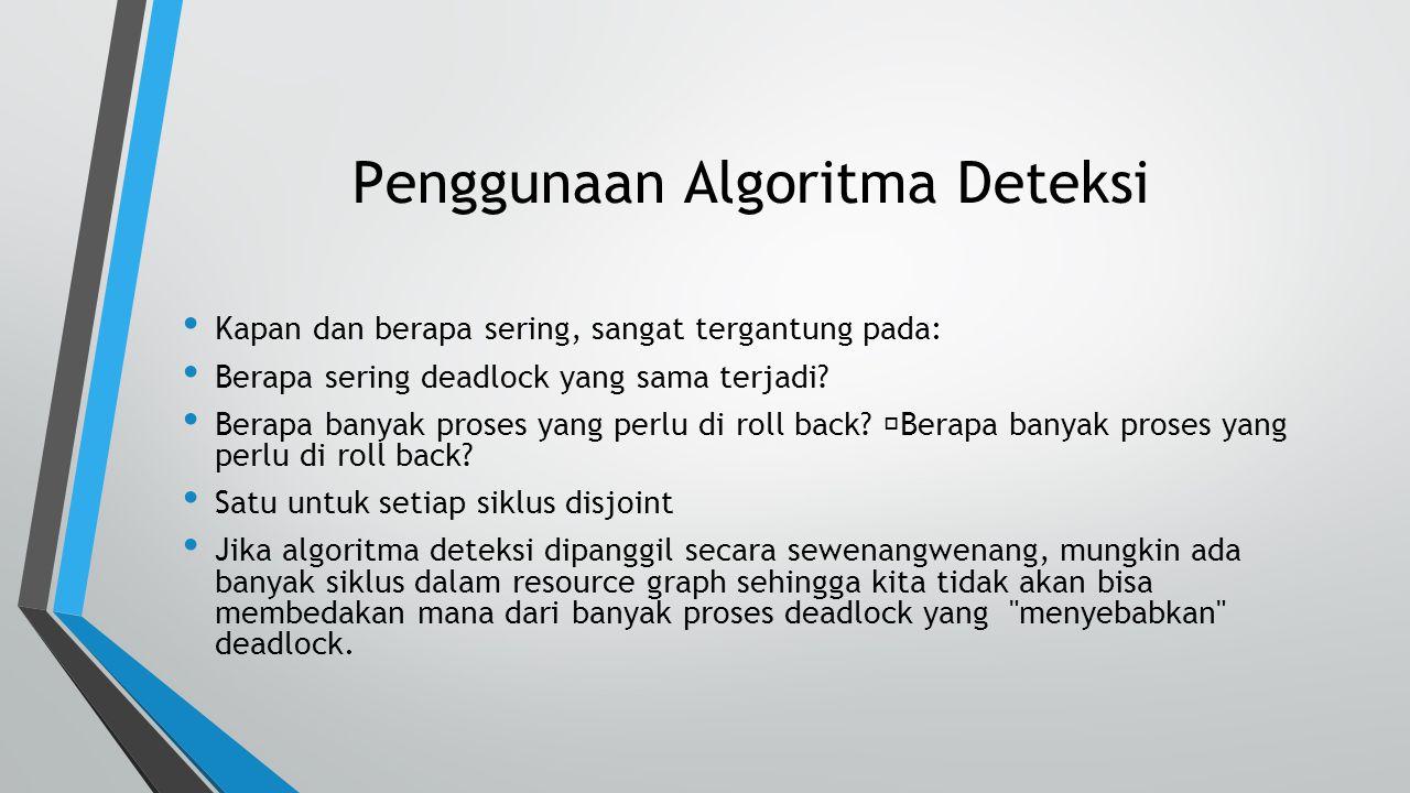Penggunaan Algoritma Deteksi