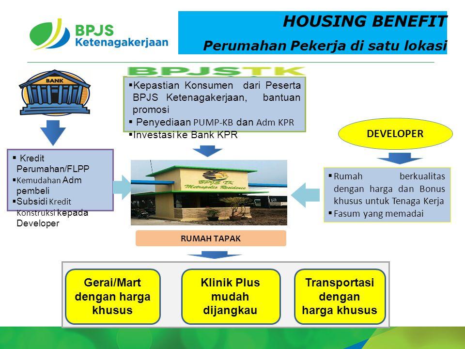 HOUSING BENEFIT Perumahan Pekerja di satu lokasi DEVELOPER