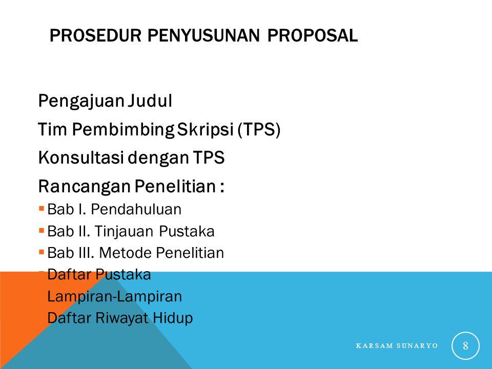 Prosedur Penyusunan Proposal