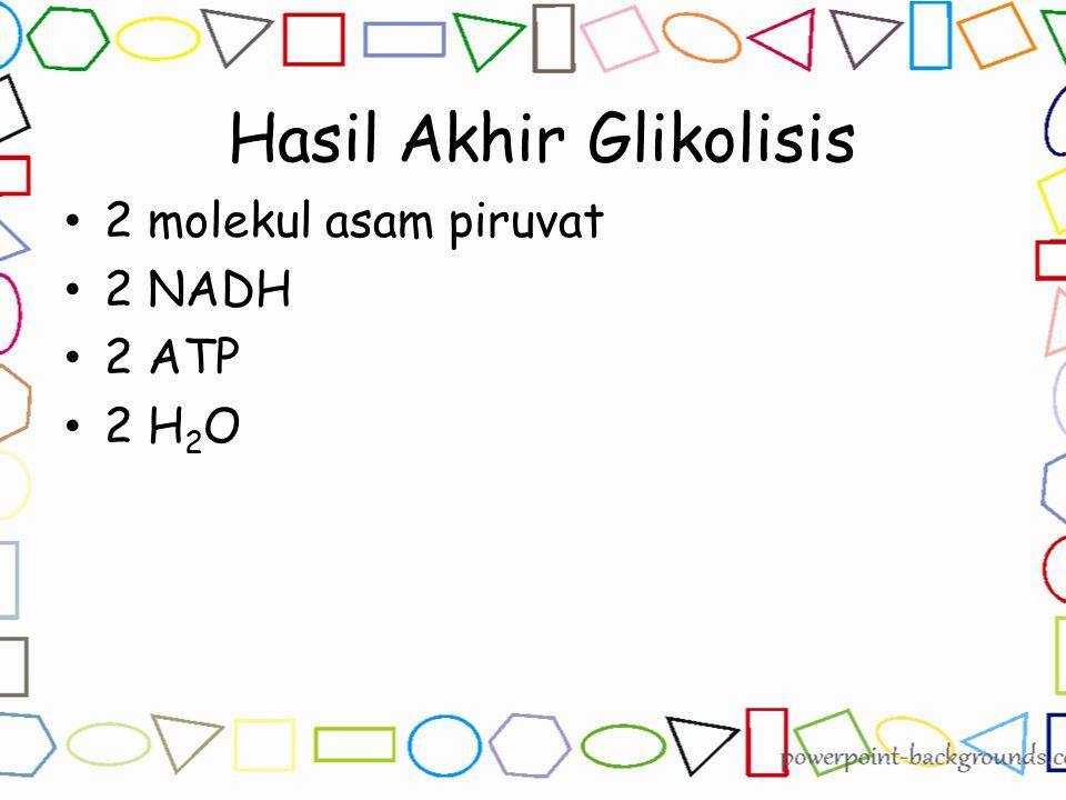 Hasil Akhir Glikolisis