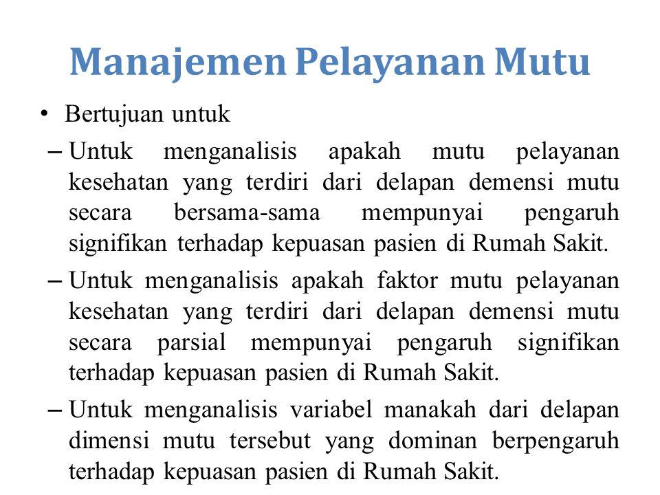 Manajemen Pelayanan Mutu