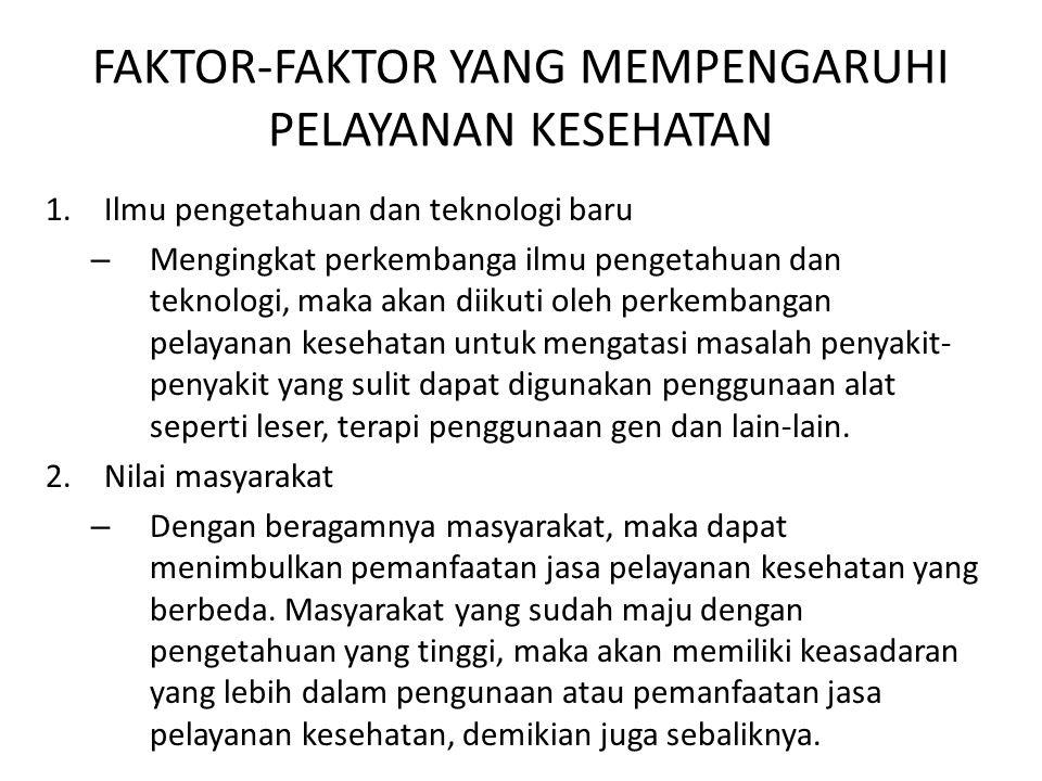 FAKTOR-FAKTOR YANG MEMPENGARUHI PELAYANAN KESEHATAN