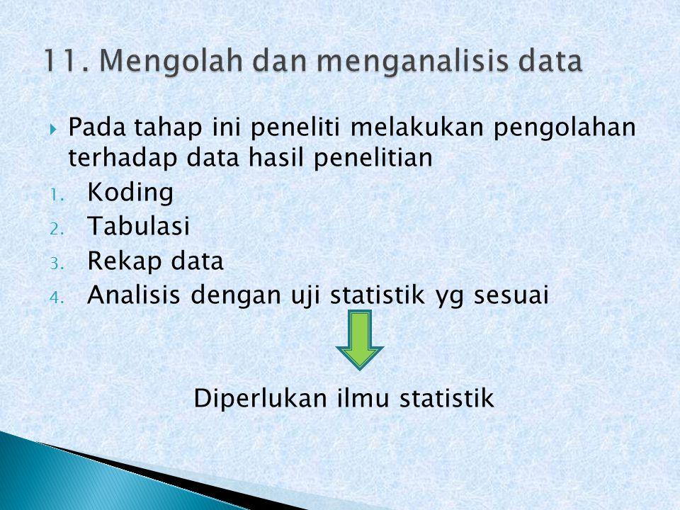 11. Mengolah dan menganalisis data