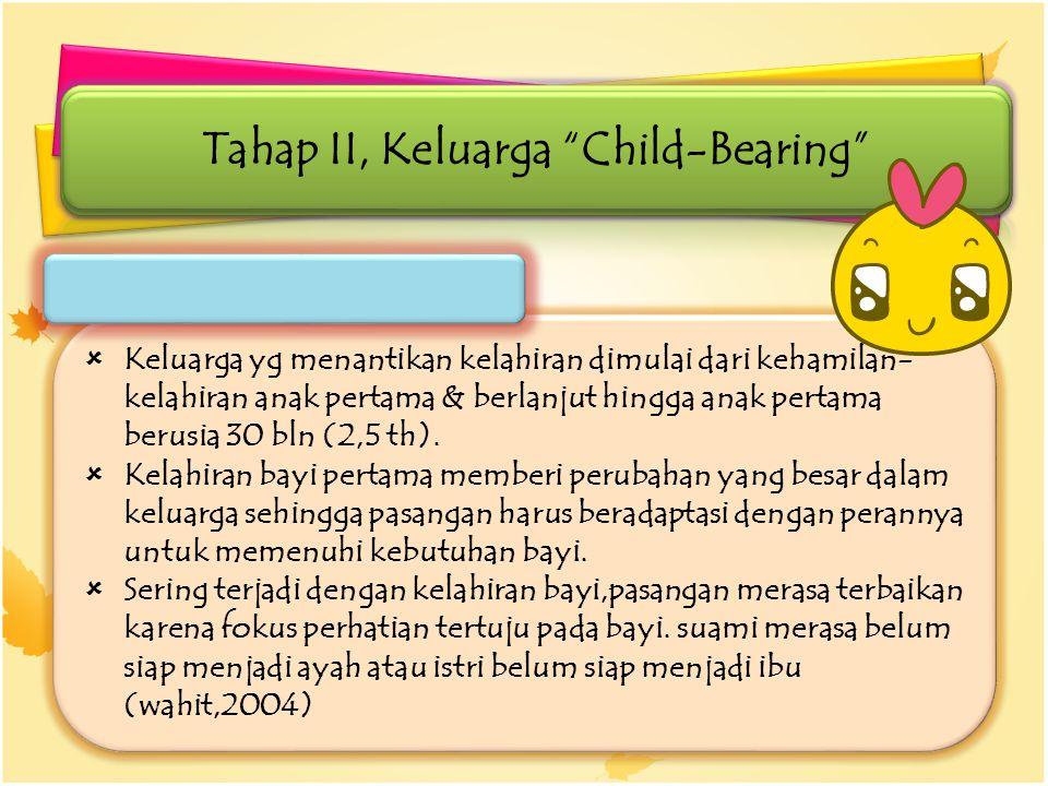 Tahap II, Keluarga Child-Bearing