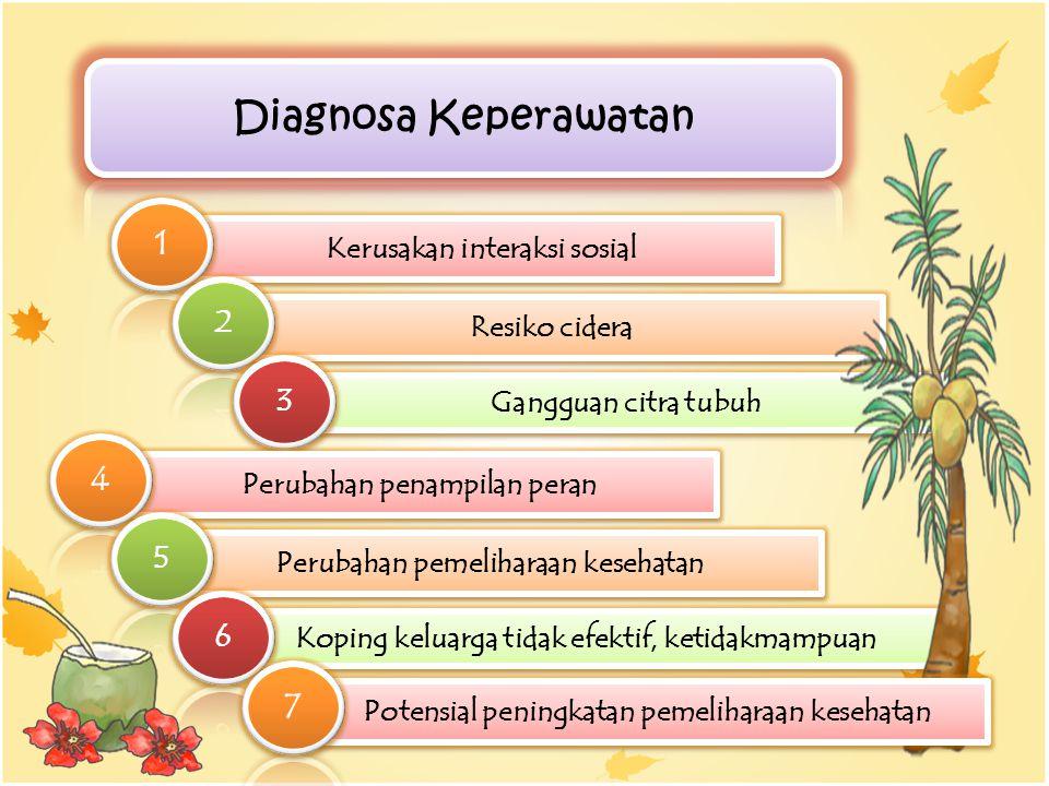 Diagnosa Keperawatan 1 4 7 2 3 5 6 Kerusakan interaksi sosial