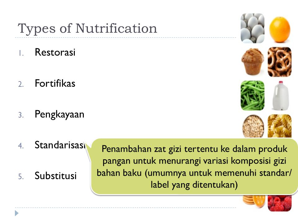 Types of Nutrification