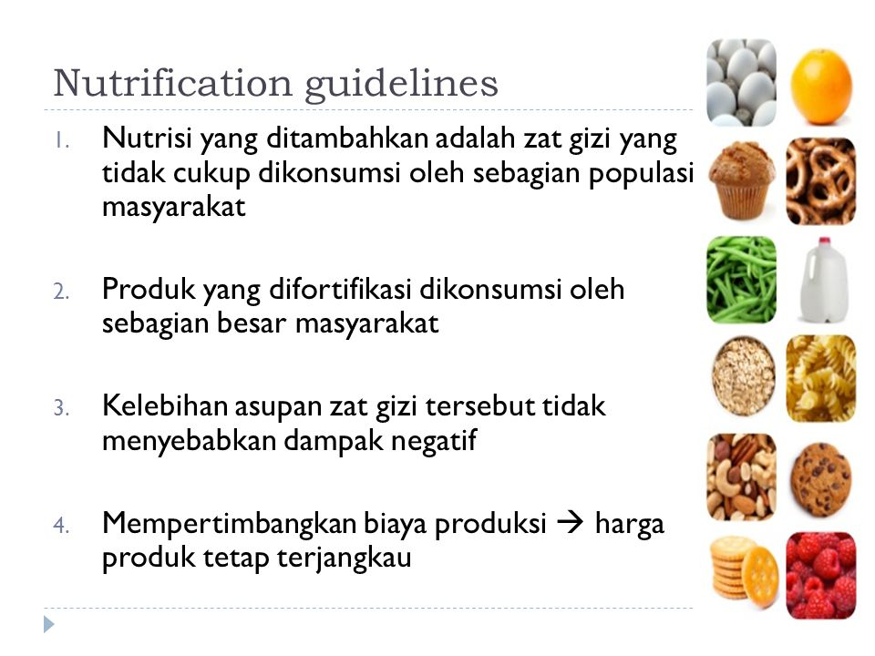 Nutrification guidelines