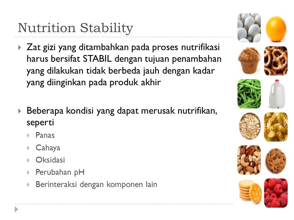Nutrition Stability