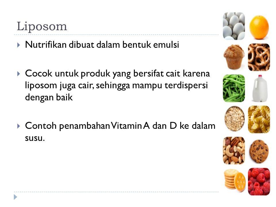 Liposom Nutrifikan dibuat dalam bentuk emulsi