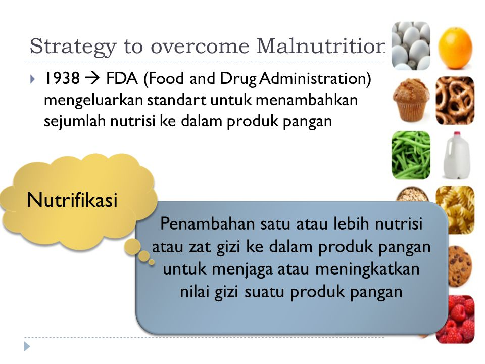 Strategy to overcome Malnutrition