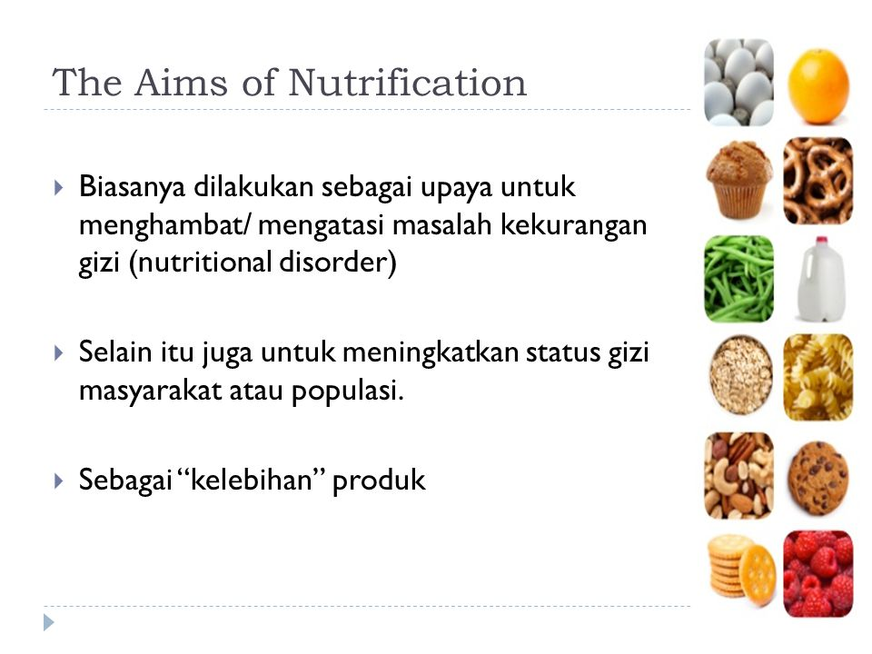 The Aims of Nutrification