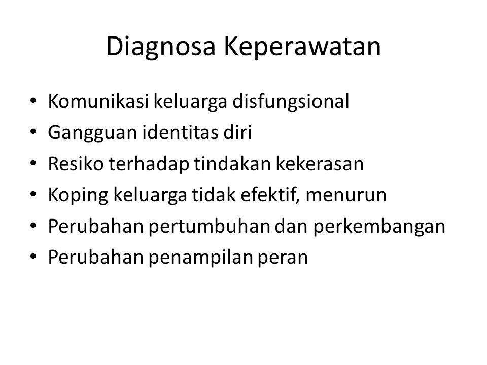 Diagnosa Keperawatan Komunikasi keluarga disfungsional