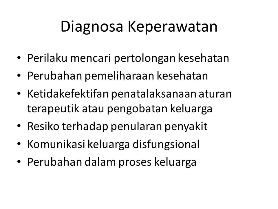 Diagnosa Keperawatan Perilaku mencari pertolongan kesehatan