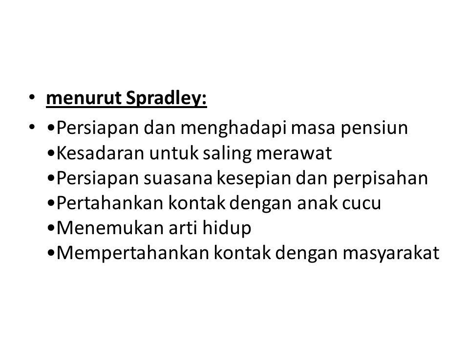 menurut Spradley: