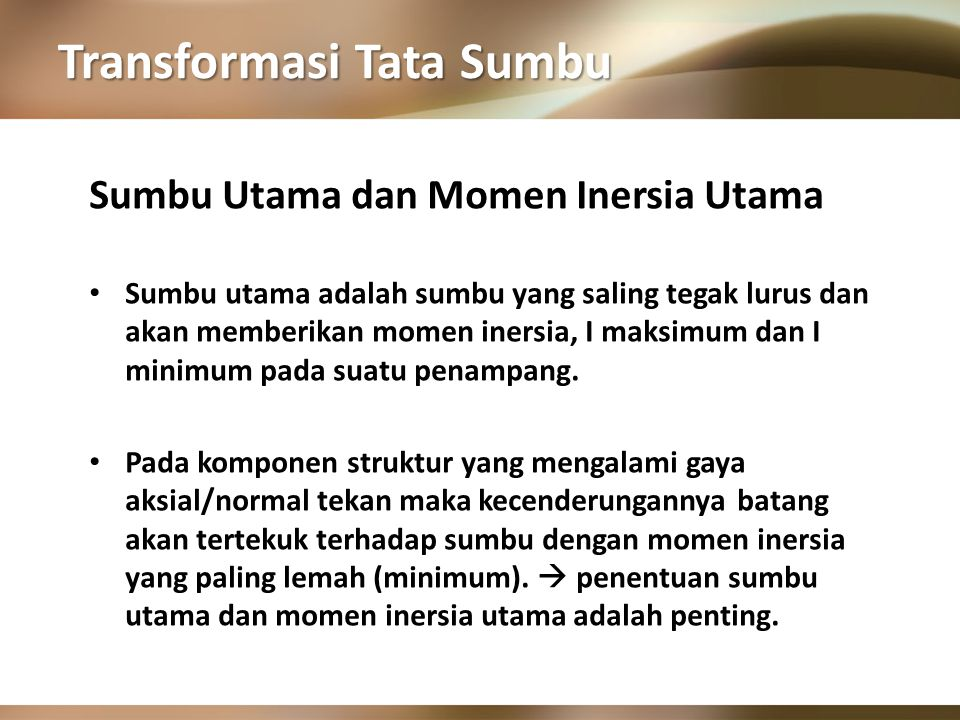 Transformasi Tata Sumbu