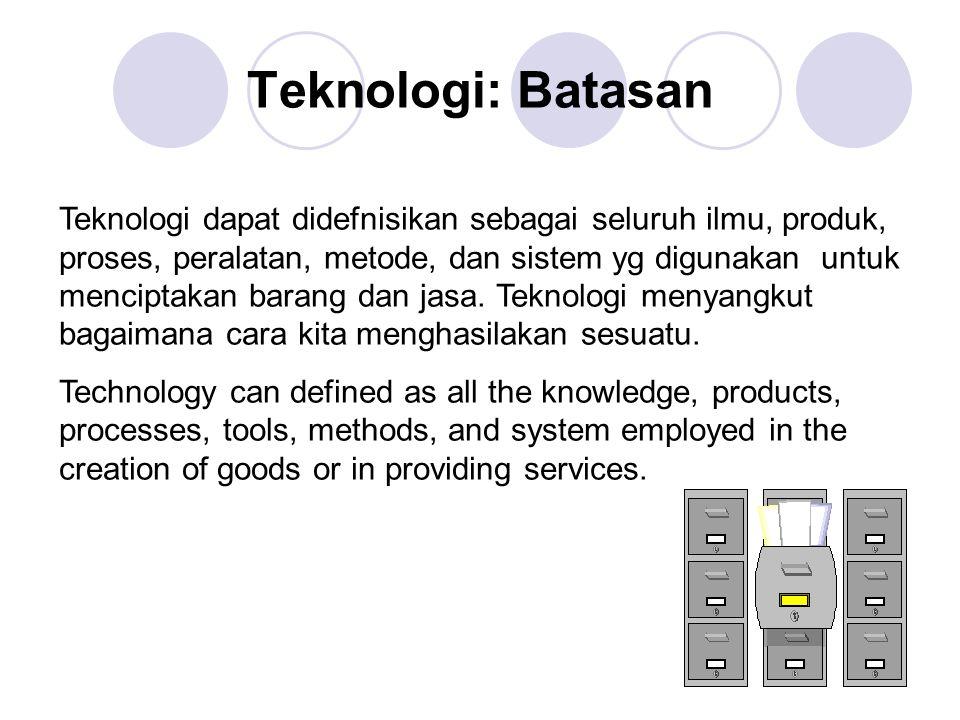 Teknologi: Batasan