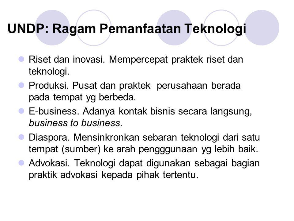 UNDP: Ragam Pemanfaatan Teknologi