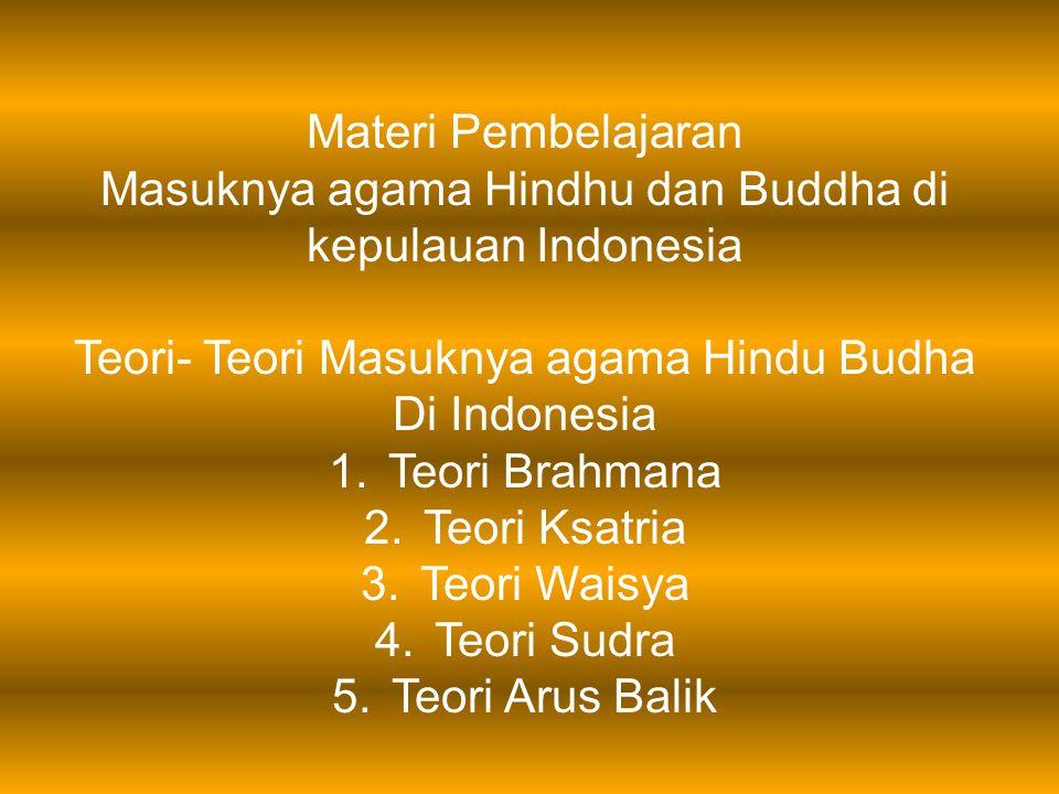 Masuknya agama Hindhu dan Buddha di kepulauan Indonesia