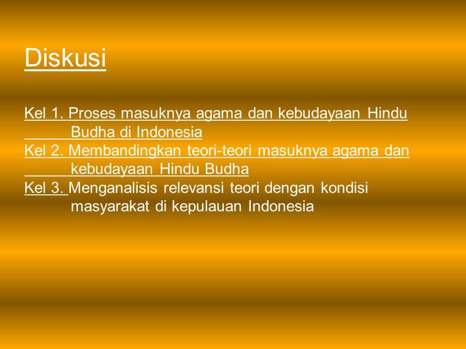 Diskusi Kel 1. Proses masuknya agama dan kebudayaan Hindu Budha di Indonesia.