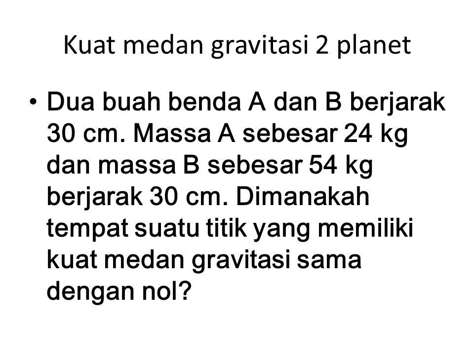 Kuat medan gravitasi 2 planet