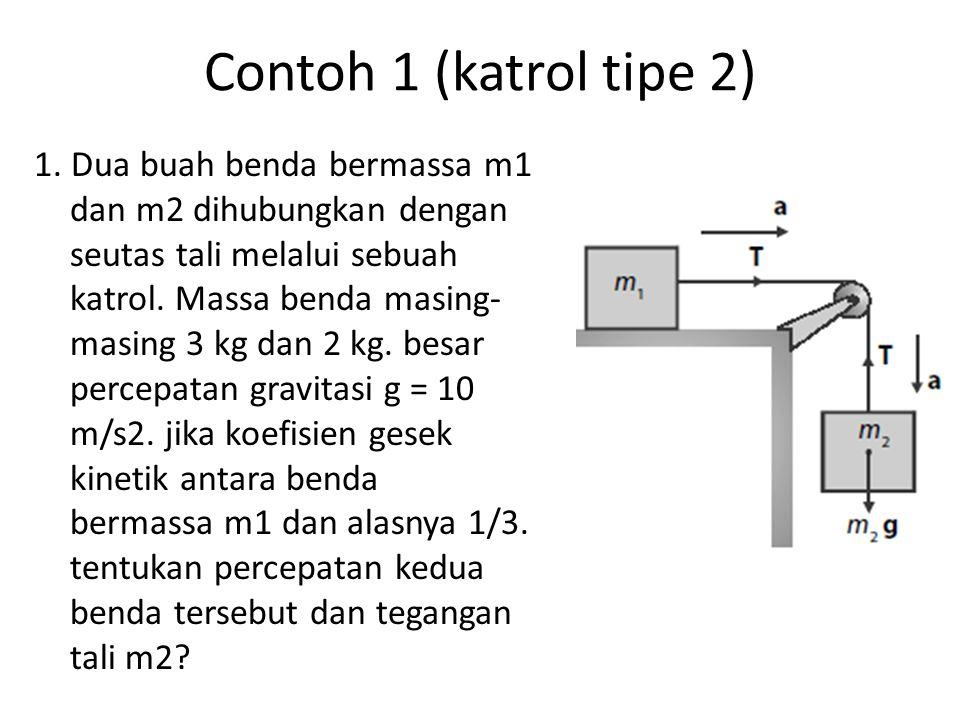 Contoh 1 (katrol tipe 2)