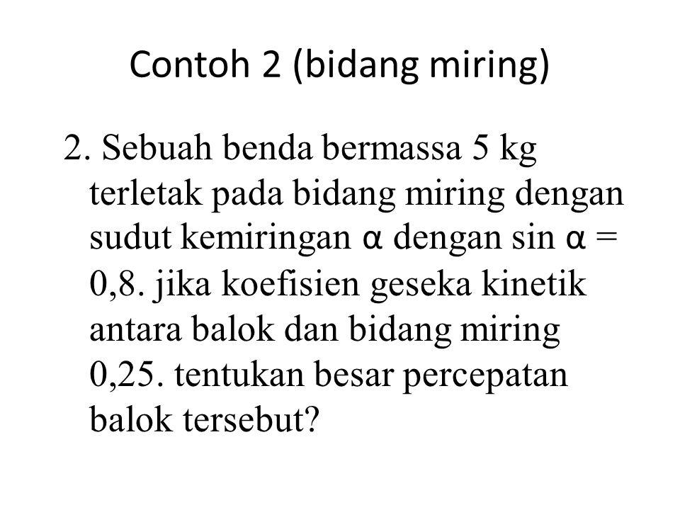 Contoh 2 (bidang miring)