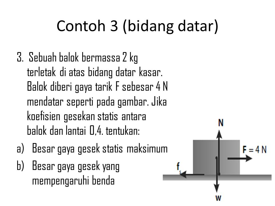 Contoh 3 (bidang datar)