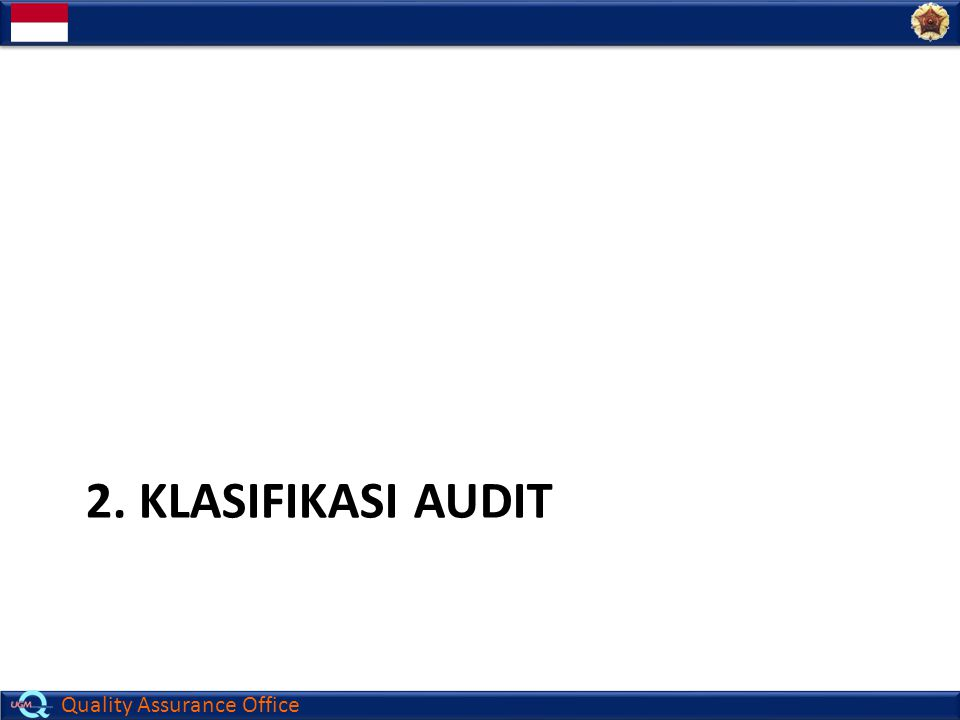2. Klasifikasi Audit