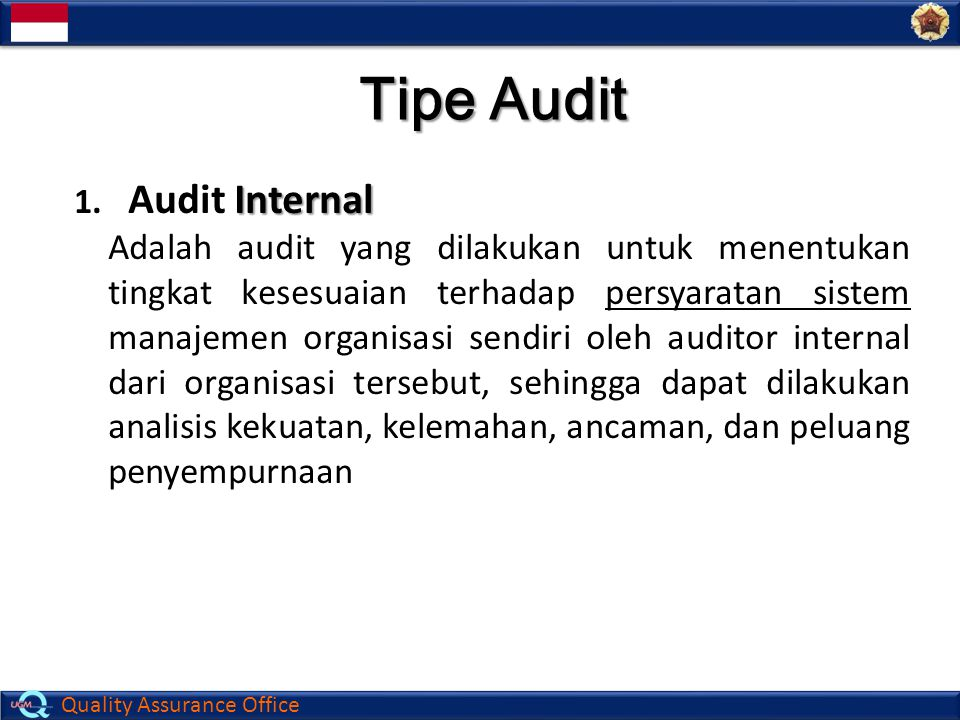 Tipe Audit Audit Internal
