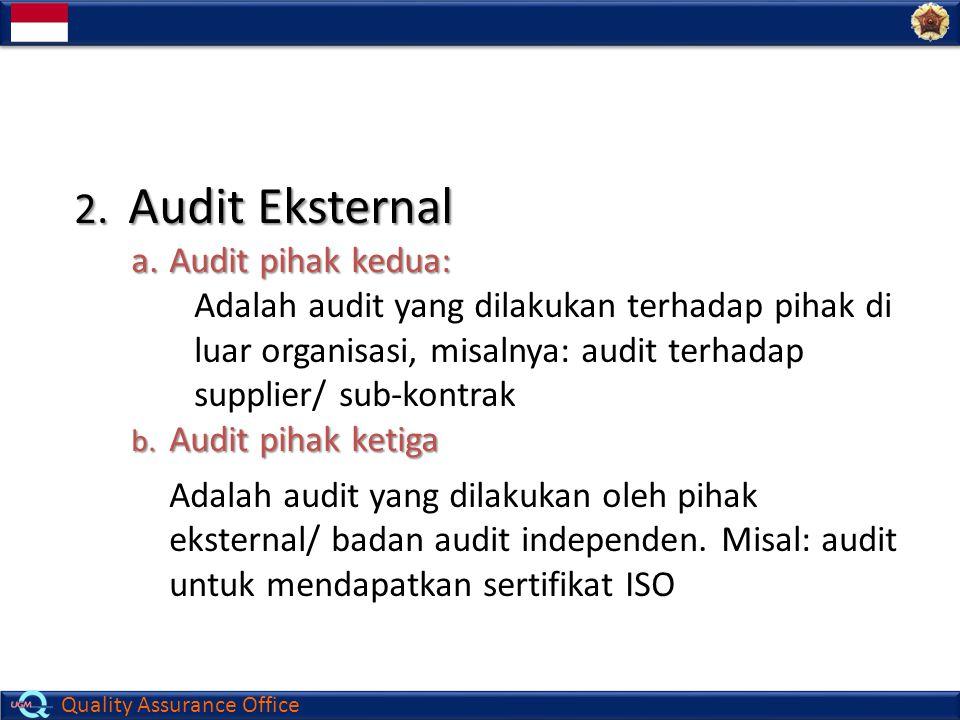 Audit Eksternal Audit pihak kedua: