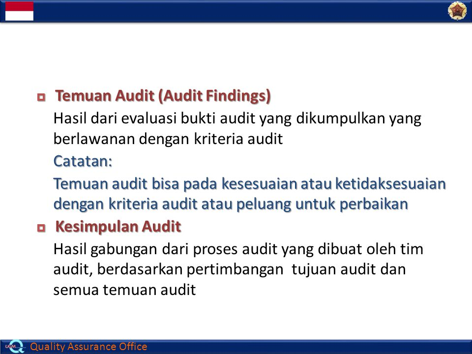 Temuan Audit (Audit Findings)