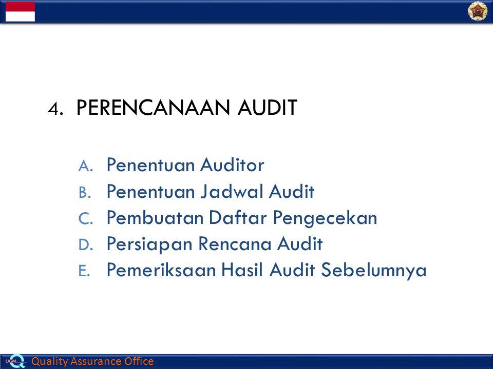 PERENCANAAN AUDIT Penentuan Auditor Penentuan Jadwal Audit