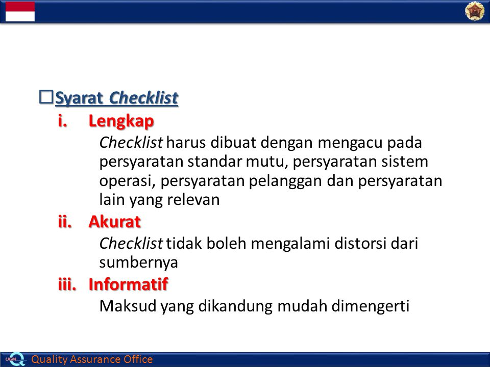 Syarat Checklist Lengkap Akurat Informatif