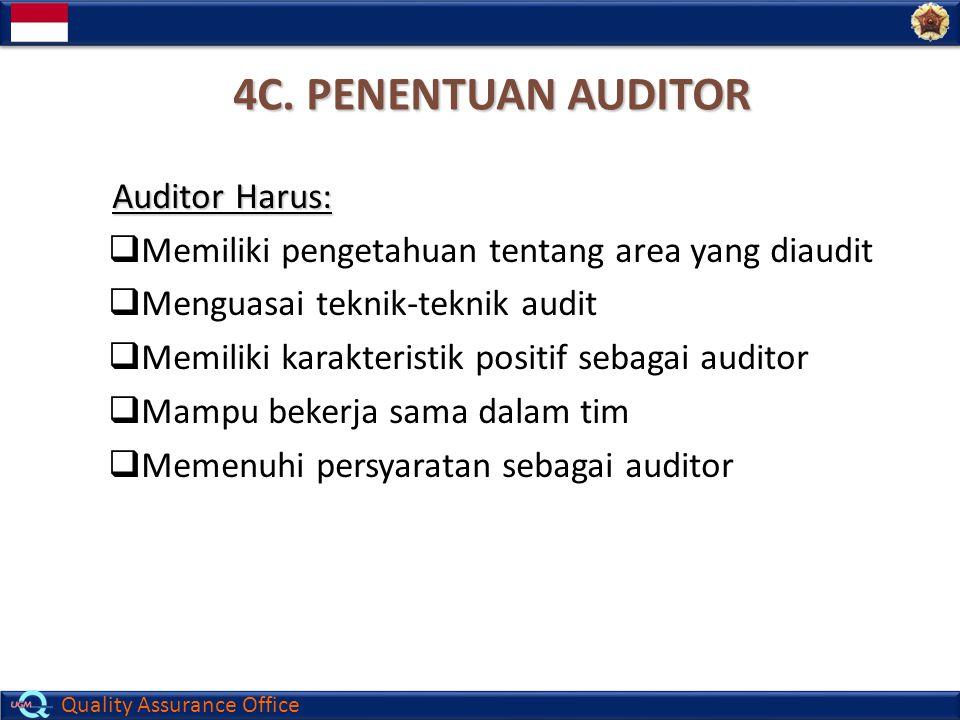 4C. PENENTUAN AUDITOR Auditor Harus: