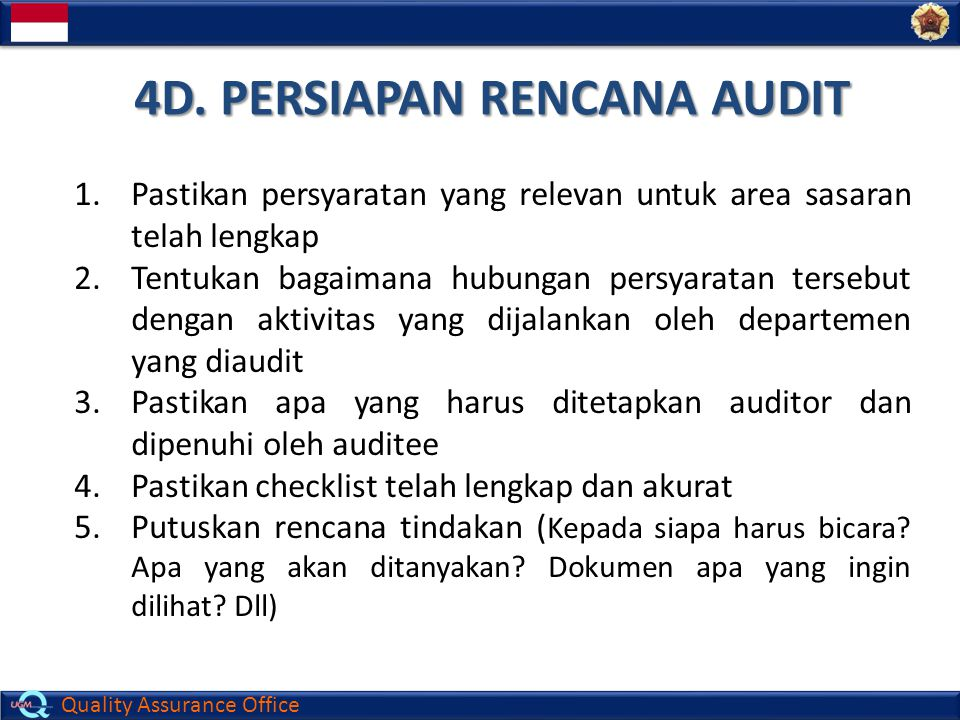 4D. PERSIAPAN RENCANA AUDIT