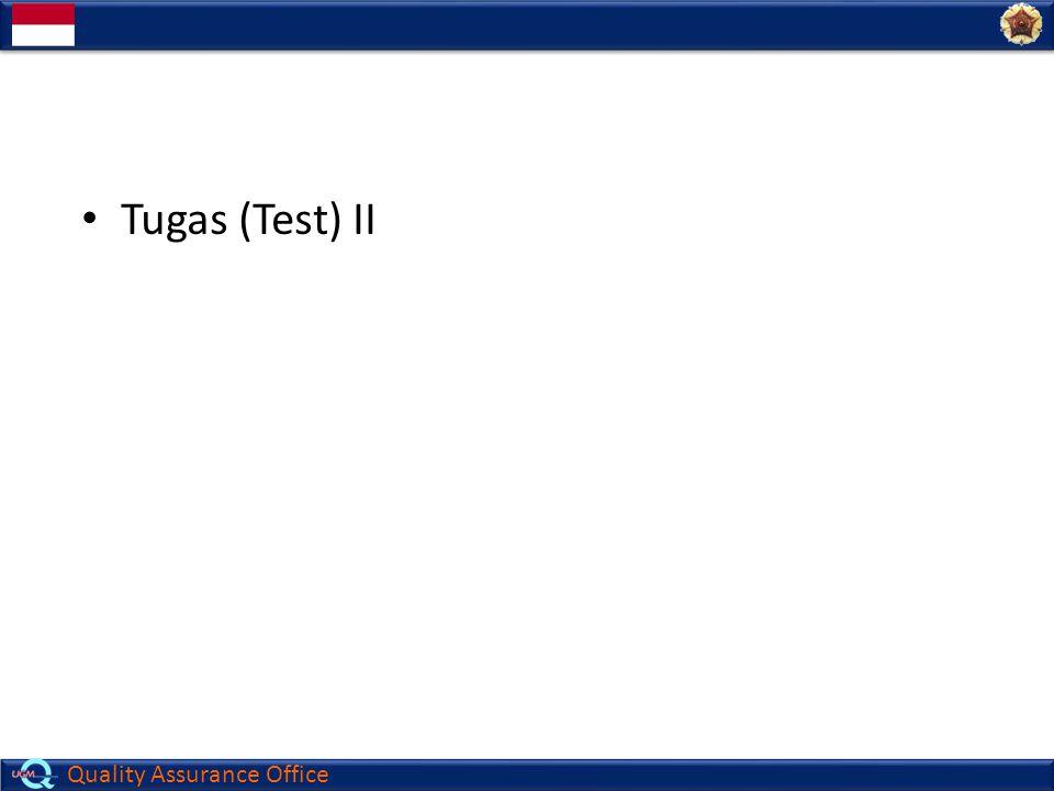 Tugas (Test) II