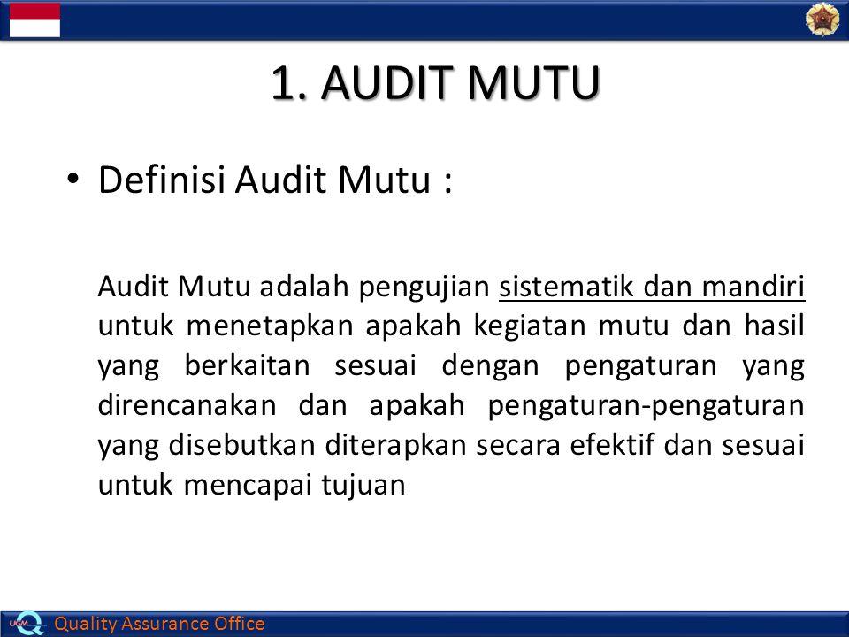 1. AUDIT MUTU Definisi Audit Mutu :