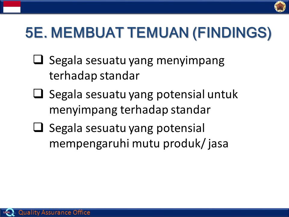 5E. MEMBUAT TEMUAN (FINDINGS)