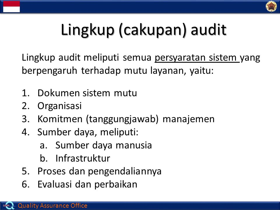 Lingkup (cakupan) audit