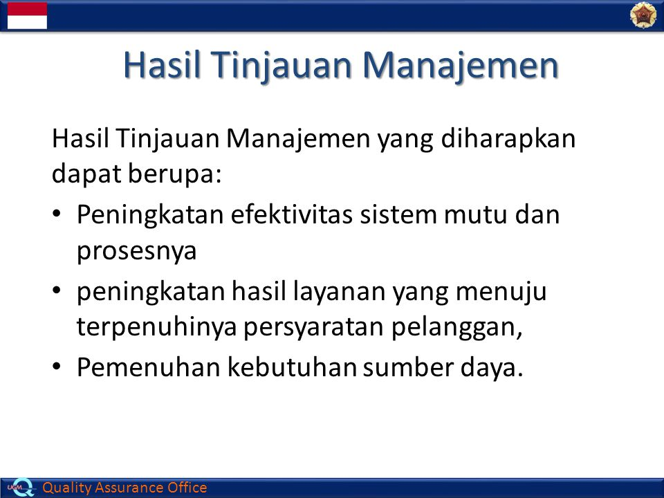 Hasil Tinjauan Manajemen
