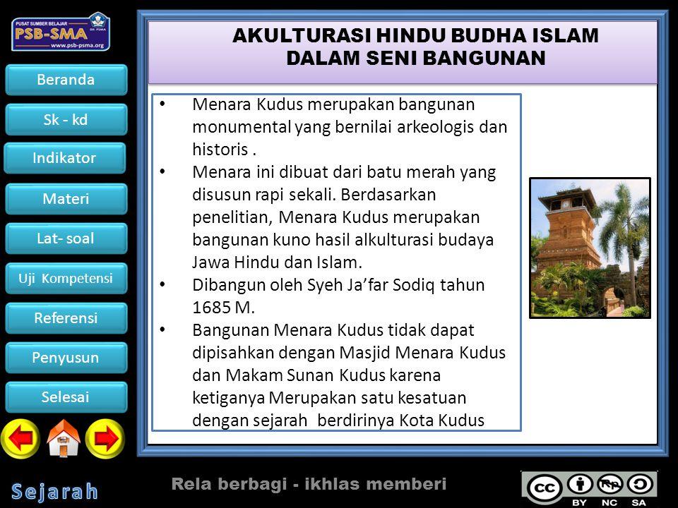 AKULTURASI HINDU BUDHA ISLAM DALAM SENI BANGUNAN