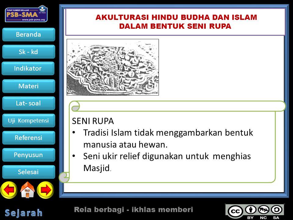 Tradisi Islam tidak menggambarkan bentuk manusia atau hewan.