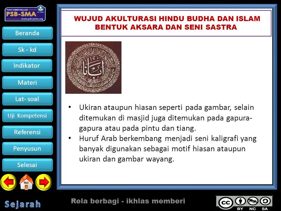 WUJUD AKULTURASI HINDU BUDHA DAN ISLAM