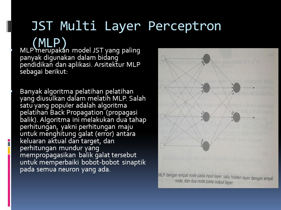 JST Multi Layer Perceptron (MLP)
