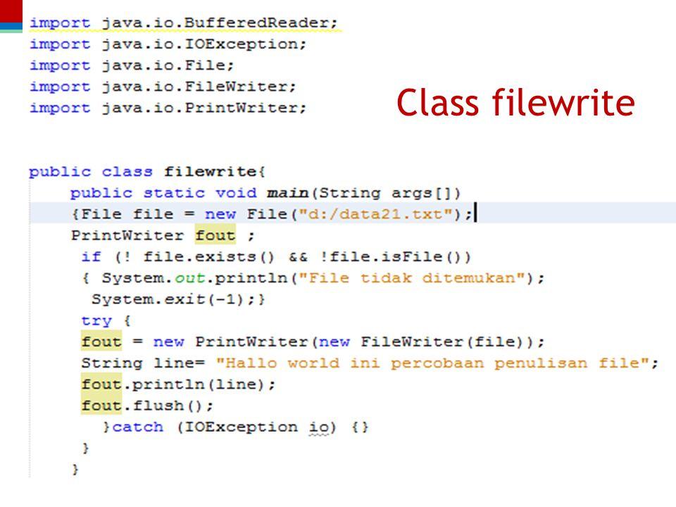 Class filewrite