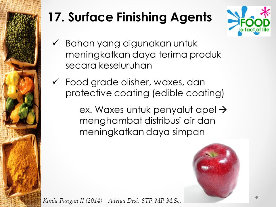 17. Surface Finishing Agents