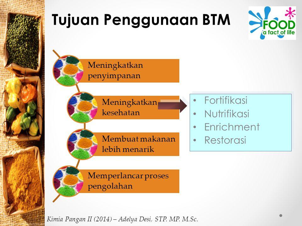 Tujuan Penggunaan BTM Fortifikasi Nutrifikasi Enrichment Restorasi